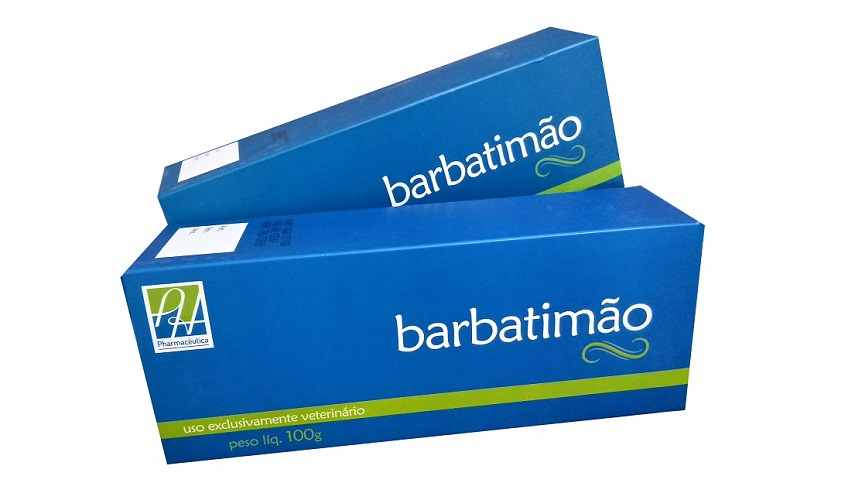 Does the Barbatimão ointment from Pharmacêutica drain into the wound?