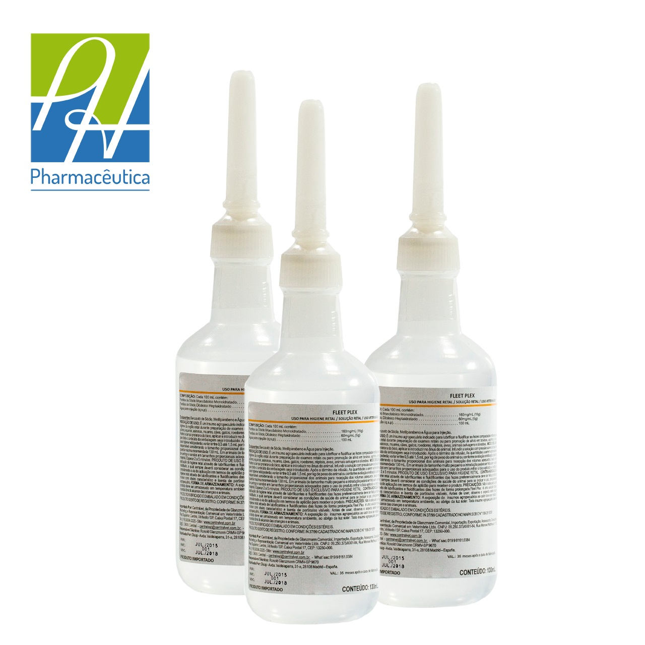 Rectal hygiene solution for veterinary use-Fleet Plex